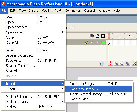 How to add audio to Flash project