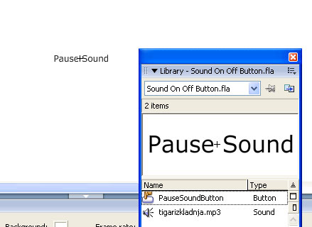 creating a pause button for audio in flash